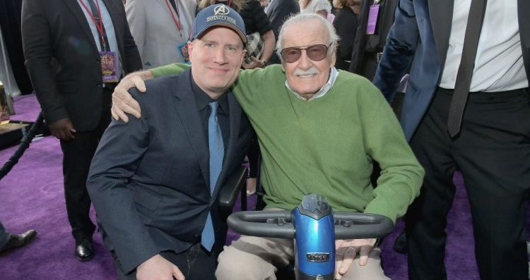Kevin Feige and Stan Lee