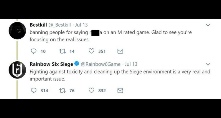Ubisoft Begins Banning Gamers from Rainbow Six Siege for