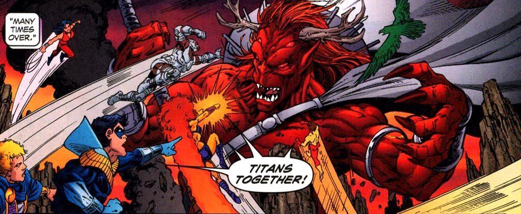 Trigon and the Teen Titans - DC Comics