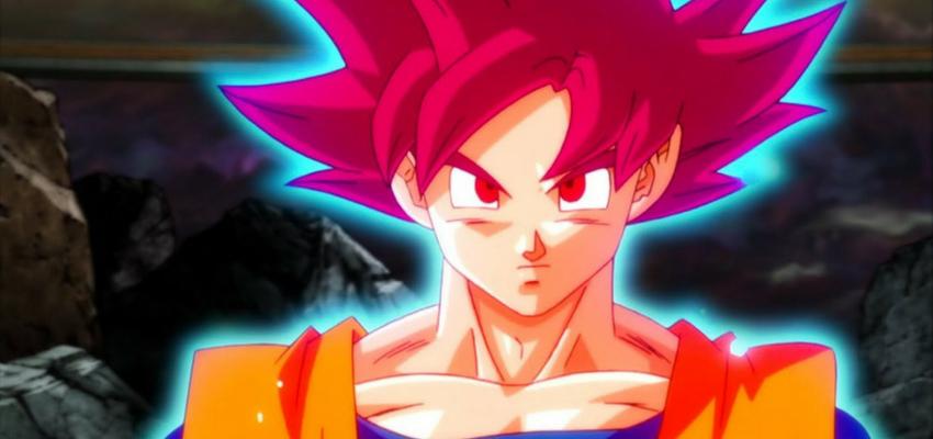 """Super Saiyan God Goku in """"Dragon Ball Super"""" - Toei Animation"""