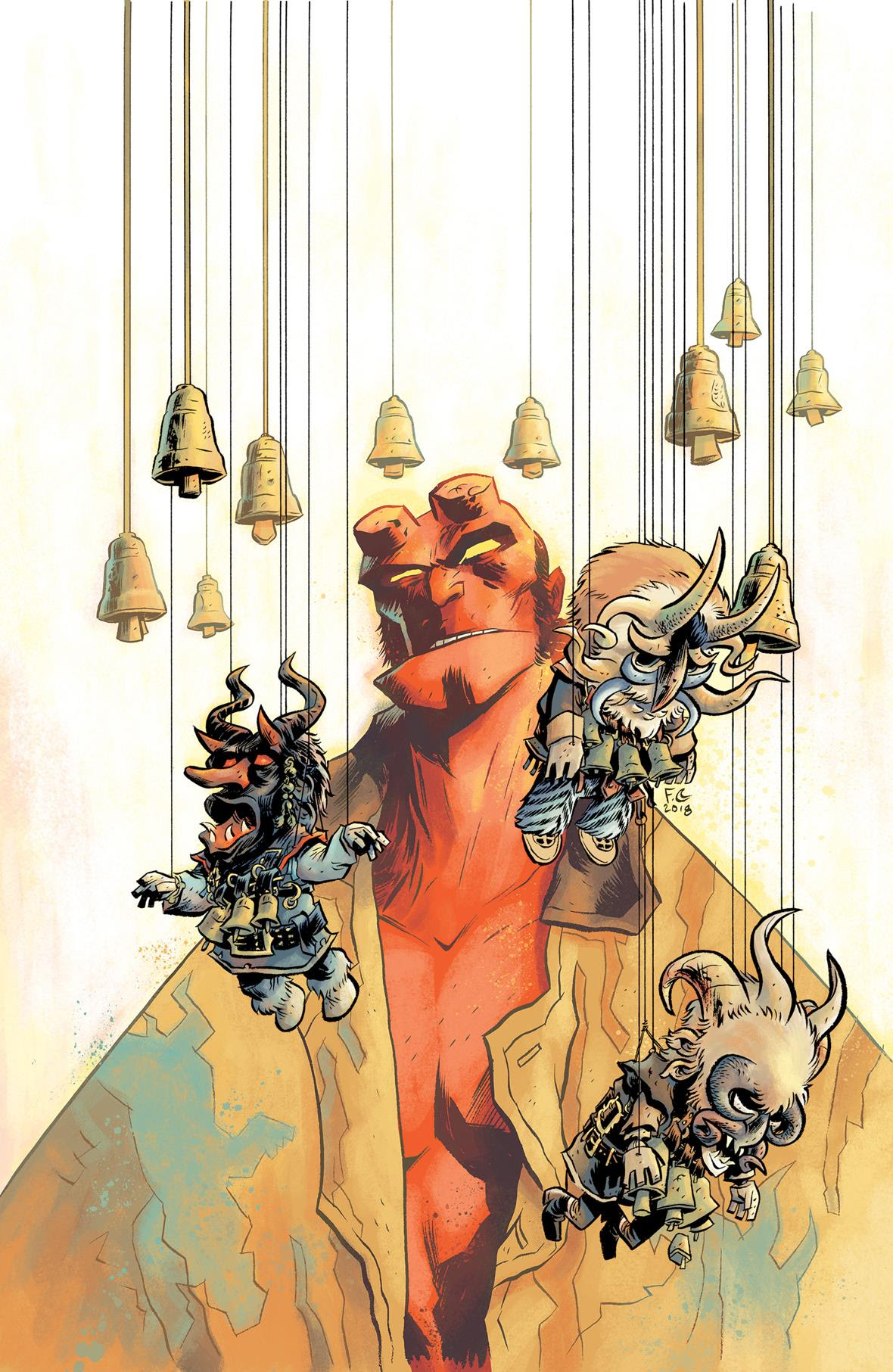 Hellboy Winter Special 2018 cover by Fábio Moon