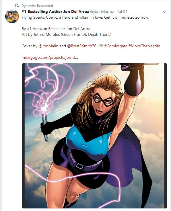Dynamite Comics Retweets Flying Sparks