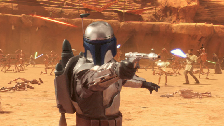 "Jango Fett in ""Star Wars: The Clone Wars"" - Lucasfilm"