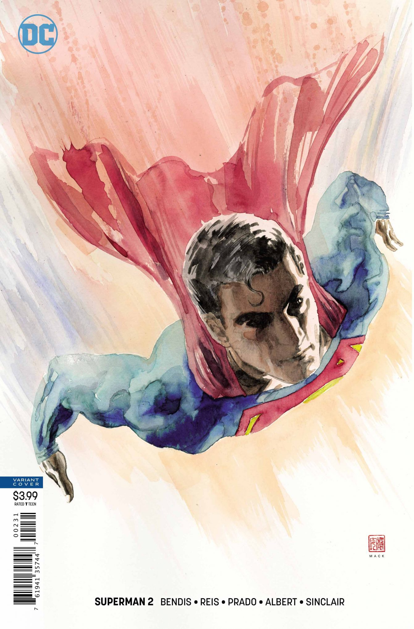Superman #2 Variant Cover - DC Comics