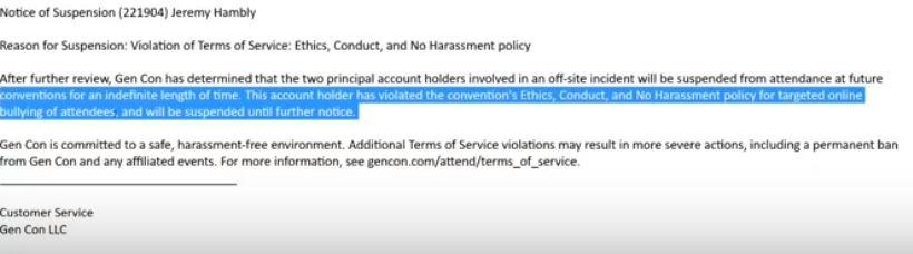 Gen Con bans Jeremy Hambly