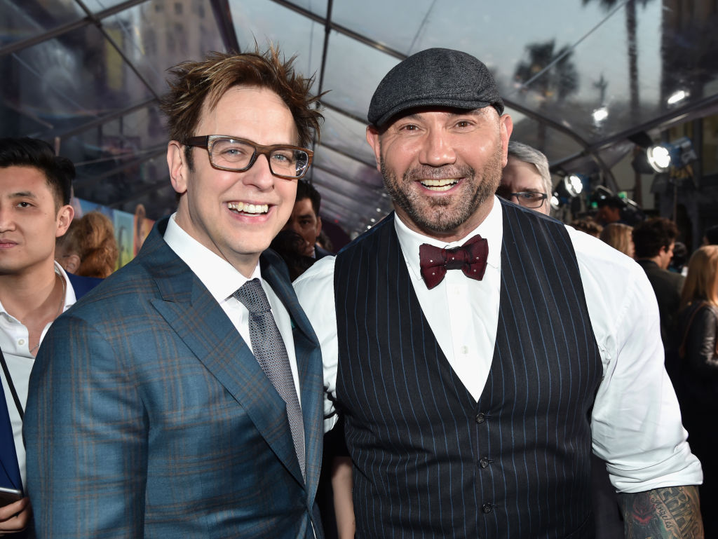 Dave Bautista and James Gunn