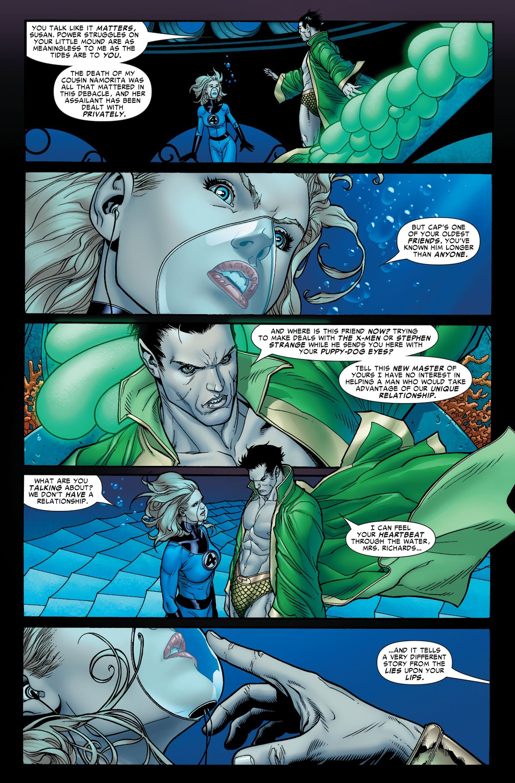 Namor and Sue Storm Civil War #6