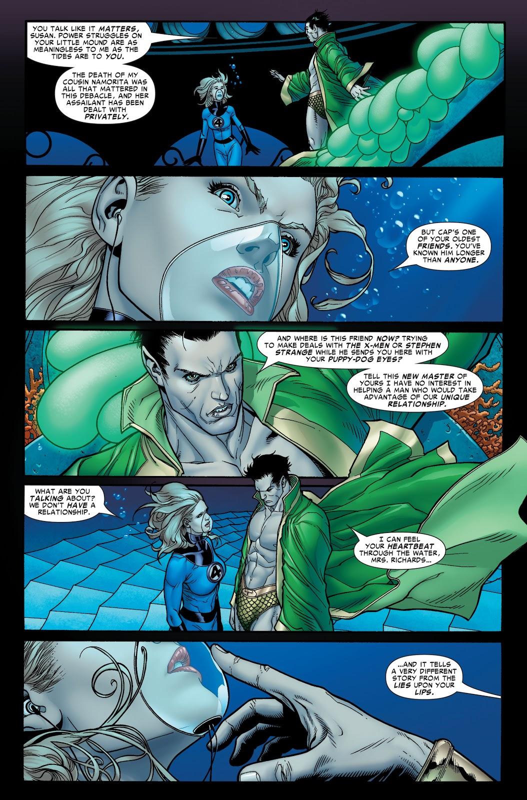 Namor and Sue Storm Civil War #6