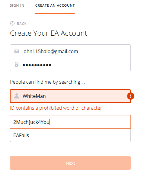 EA Origin censorship