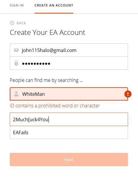 EA Origin censorship