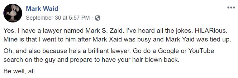 Mark Waid Facebook
