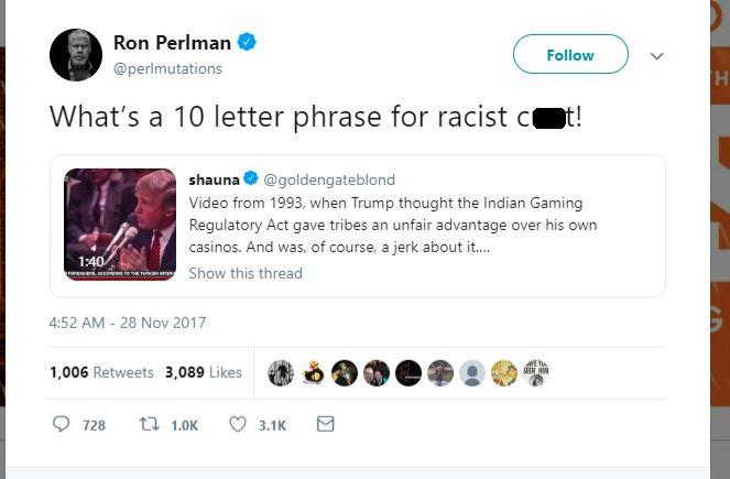 Perlman C8nt Tweet