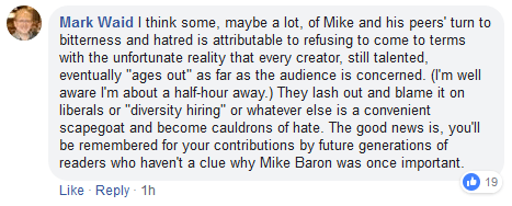 Gail Simone Chastises Comic Pro Mike Baron for Perceived ComicsGate Association