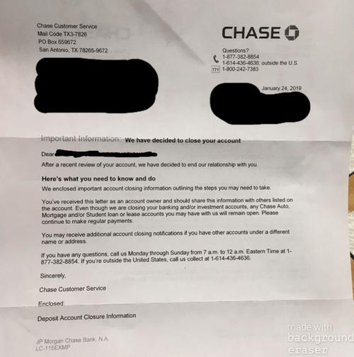 Martina Markota Chase Bank Letter