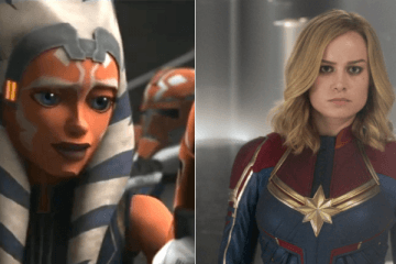 Ahsoka Tano and Captain Marvel