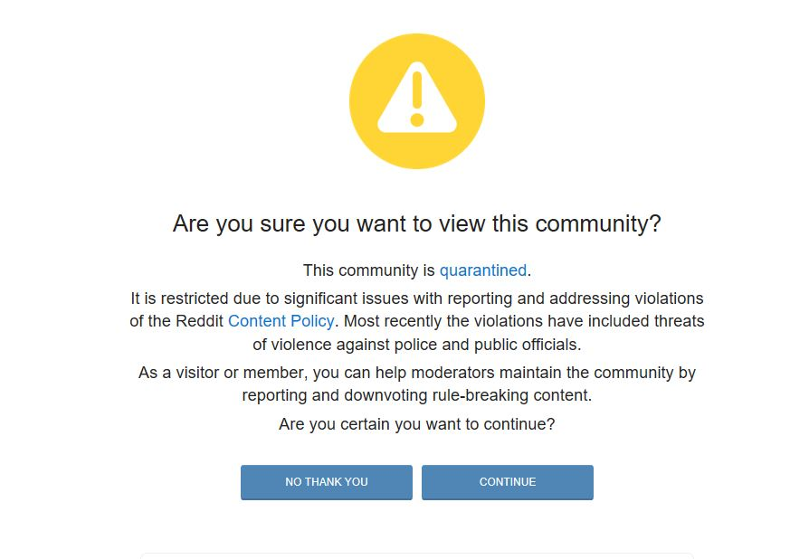 Reddit restricts pro-Trump forum over threats toward police