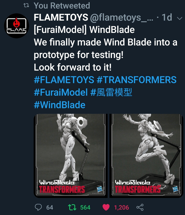 Flametoys Deletes Tweet Announcing 'Sexy' Windblade Figure After Backlash Over Design