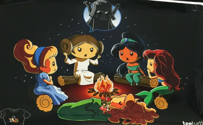 Disney Princesses with Darth Vader AwesomeCon 2015 Washington D.C. T-shirt design