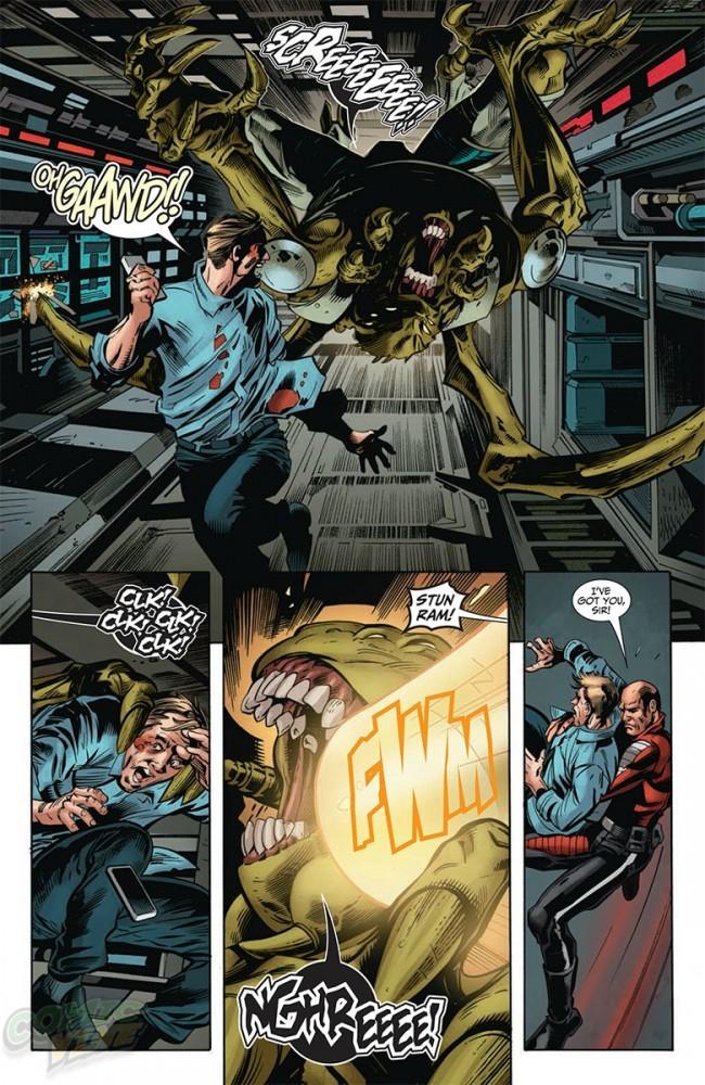 Lord Vine-99 hunts down Kozol in Imperium #6 by Valiant Comics