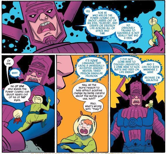 Squirrel Girl befriends Galactus