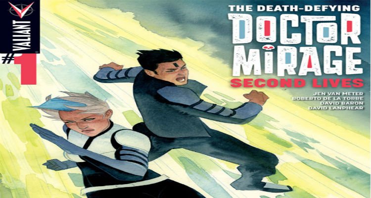 Death Defying Doctor Mirage: Second Lives Cover by Kevin Wada