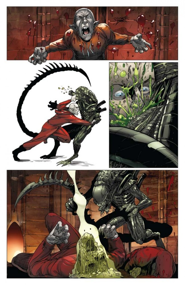 Aliens / Vampirella #1 Preview Page