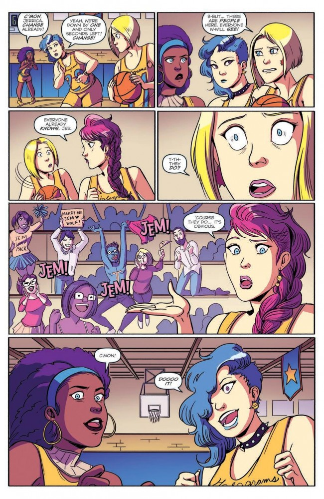 Jem and the Holograms Outrageous Annual Preview Page