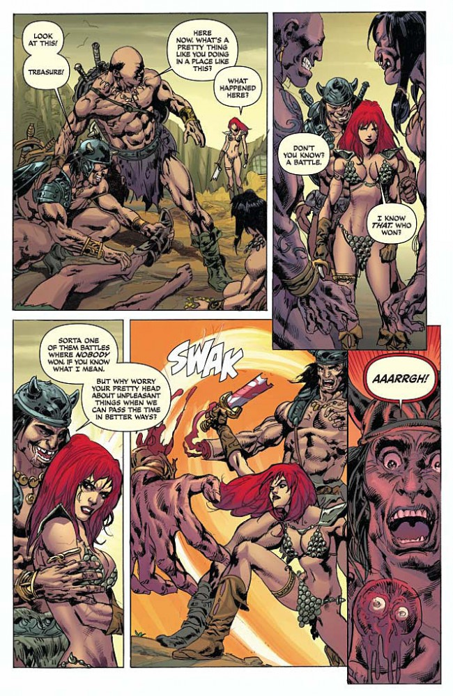 Red Sonja Conan #2 Preview Page