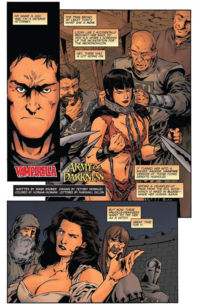 Vampirella Army of Darkness #3 Preview Page