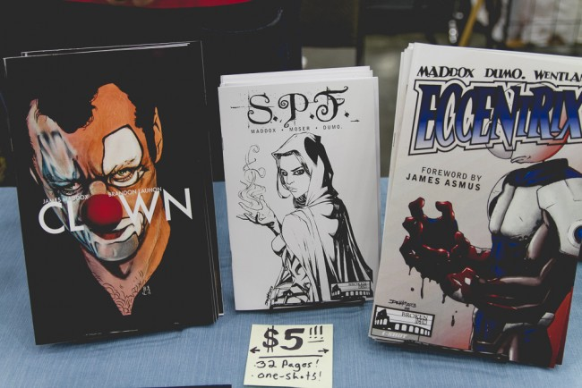 James Maddox Baltimore Comic-Con 2015 Booth
