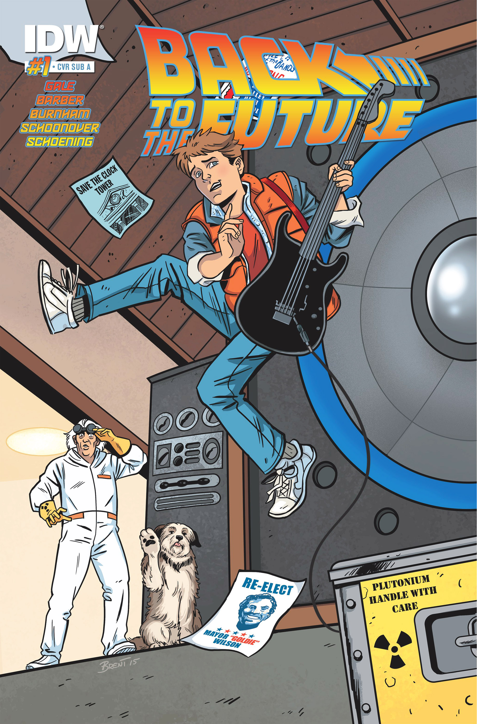 Back to the Future #1 Variant Cover