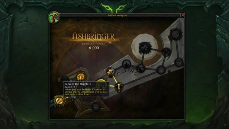 Ashbringer Artifact