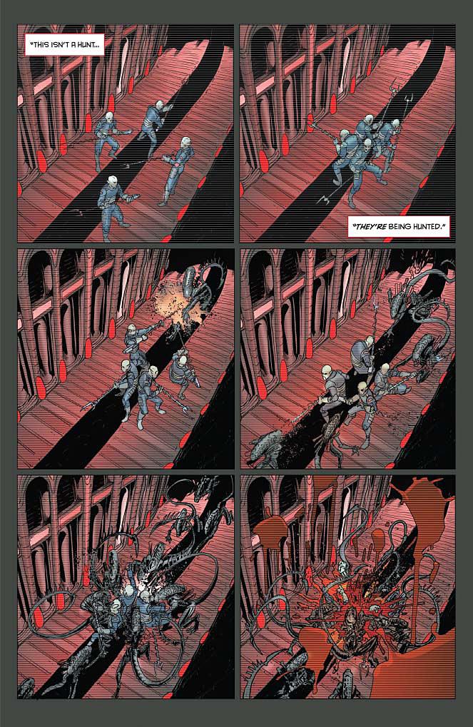 Aliens / Vampirella #3 Preview Page