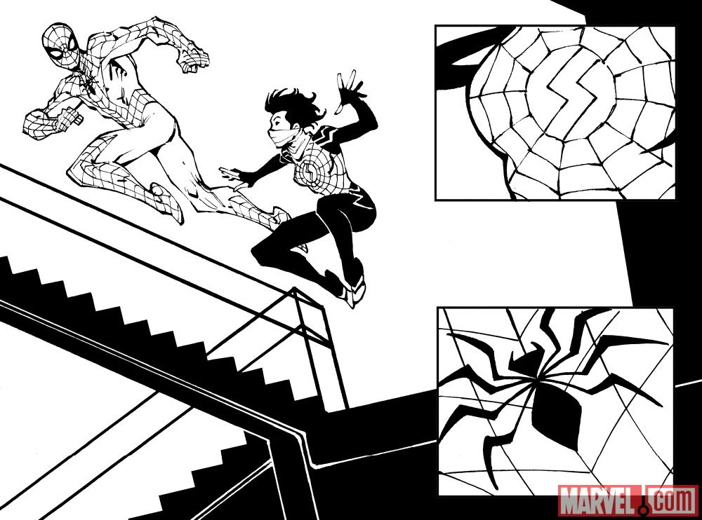 Amazing Spider-Man/Silk: The Spider(Fly) Effect Cover Preview Page