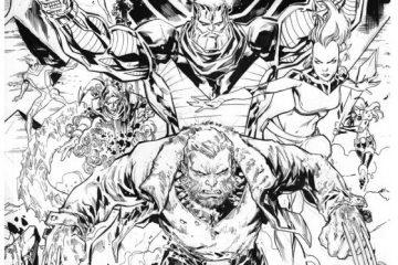 Extraordinary X-Men #8 Variant Cover by Ken Lashley