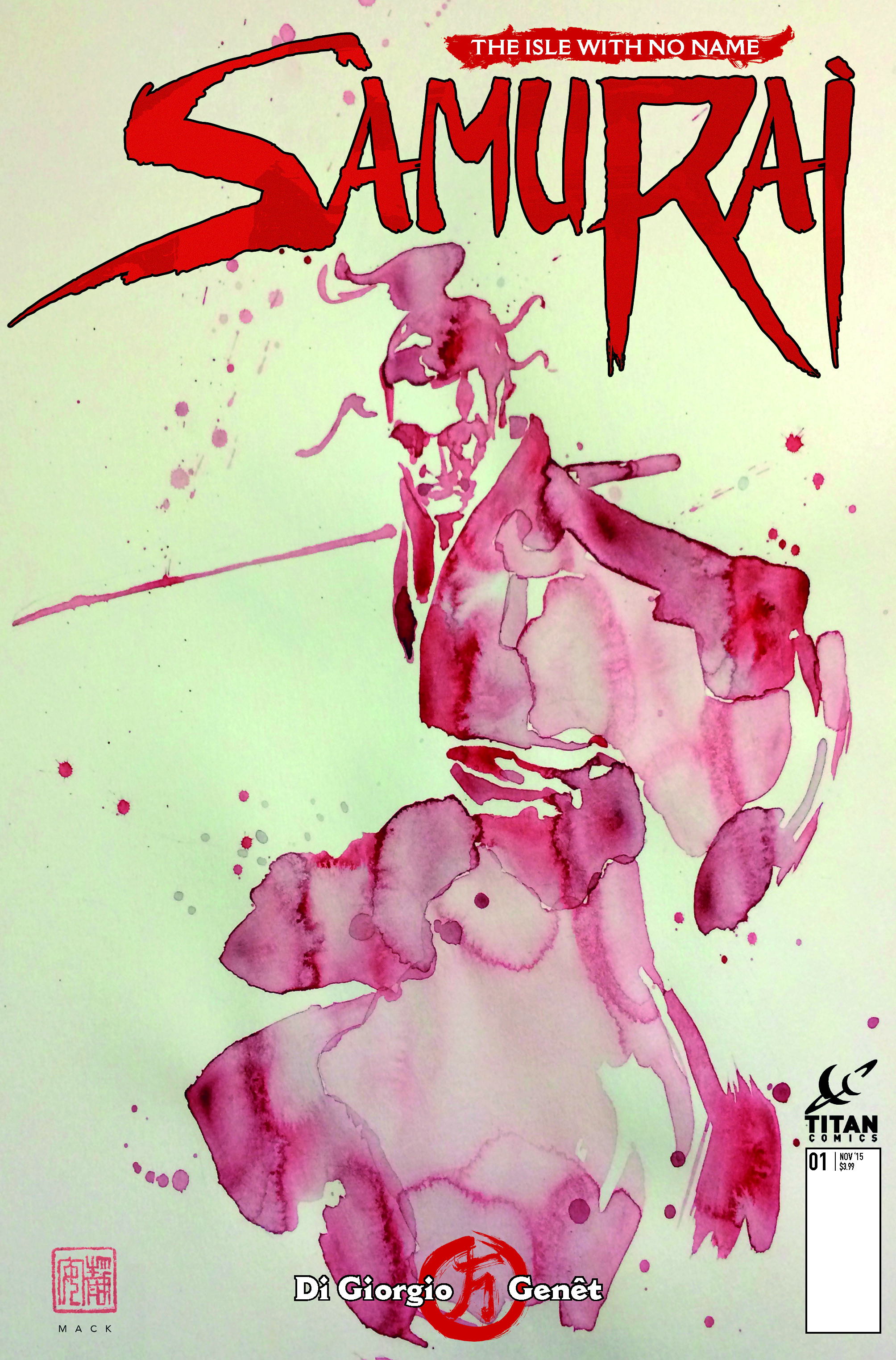 Samurai #1 Cover B by David Mack