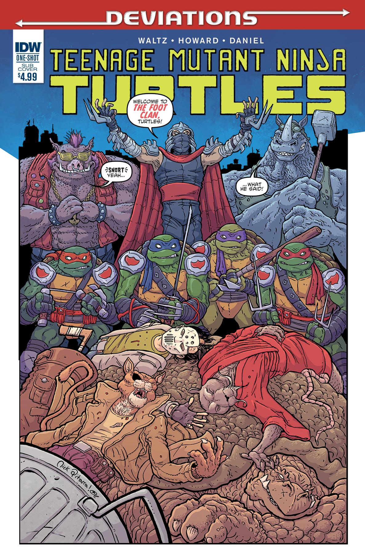Teenage Mutant Ninja Turtles Deviations Cover