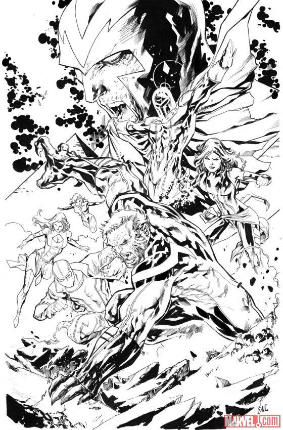 Uncanny X-Men #6 Variant Cover by Ken Lashley