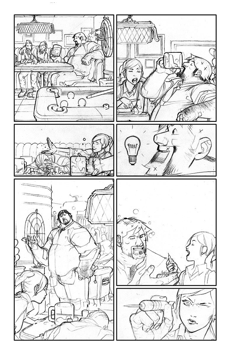 A&A: The Adventures of Archer & Armstrong #2 Sketch Page