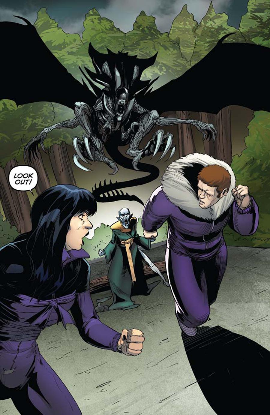Aliens / Vampirella #5 Preview Page