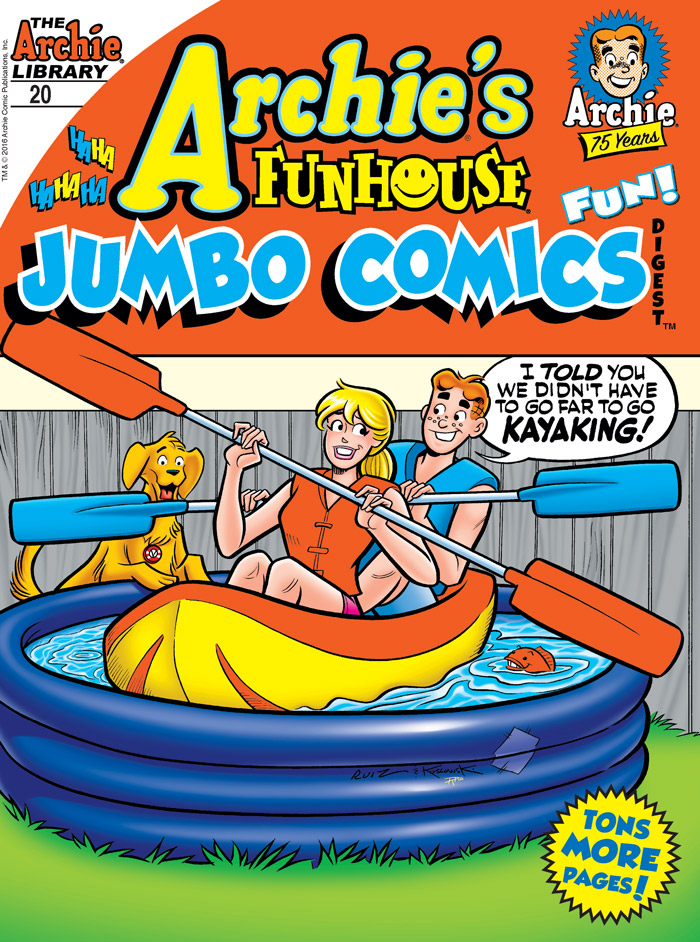 ARCHIE'S FUNHOUSE JUMBO COMICS DIGEST #20 Cover