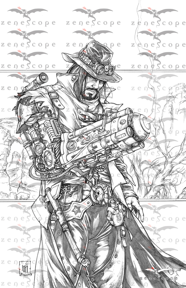 Zenescope Offers Exclusive Coloring Prints For Red Agent