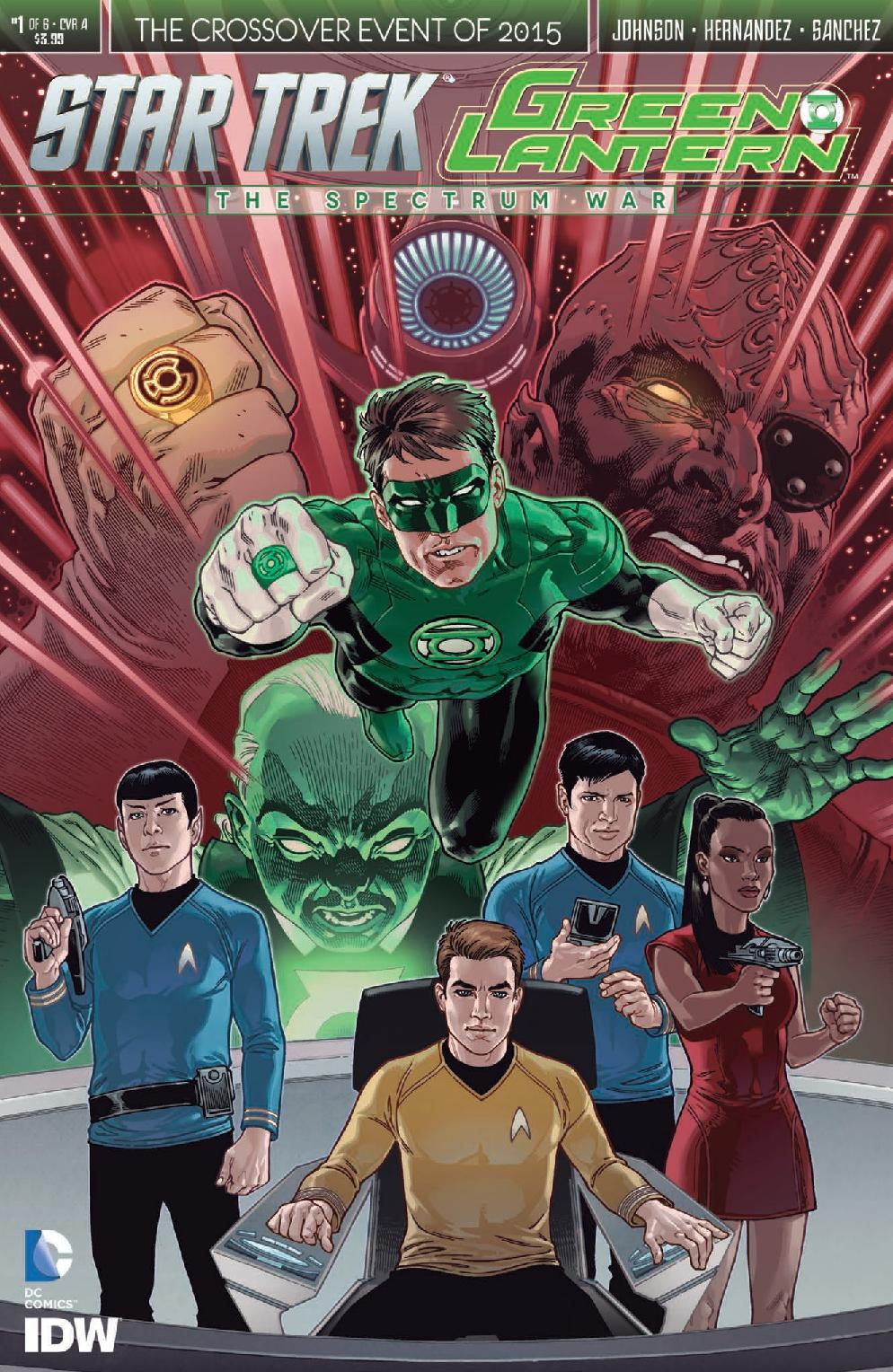 Star Trek/Green Lantern: The Spectrum War Cover