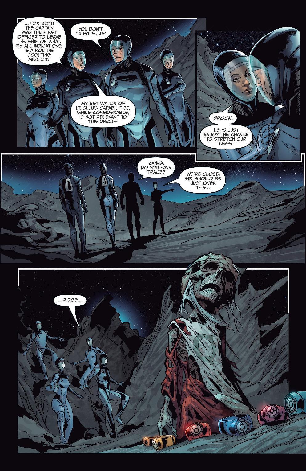 Star Trek/Green Lantern: The Spectrum War Preview Page