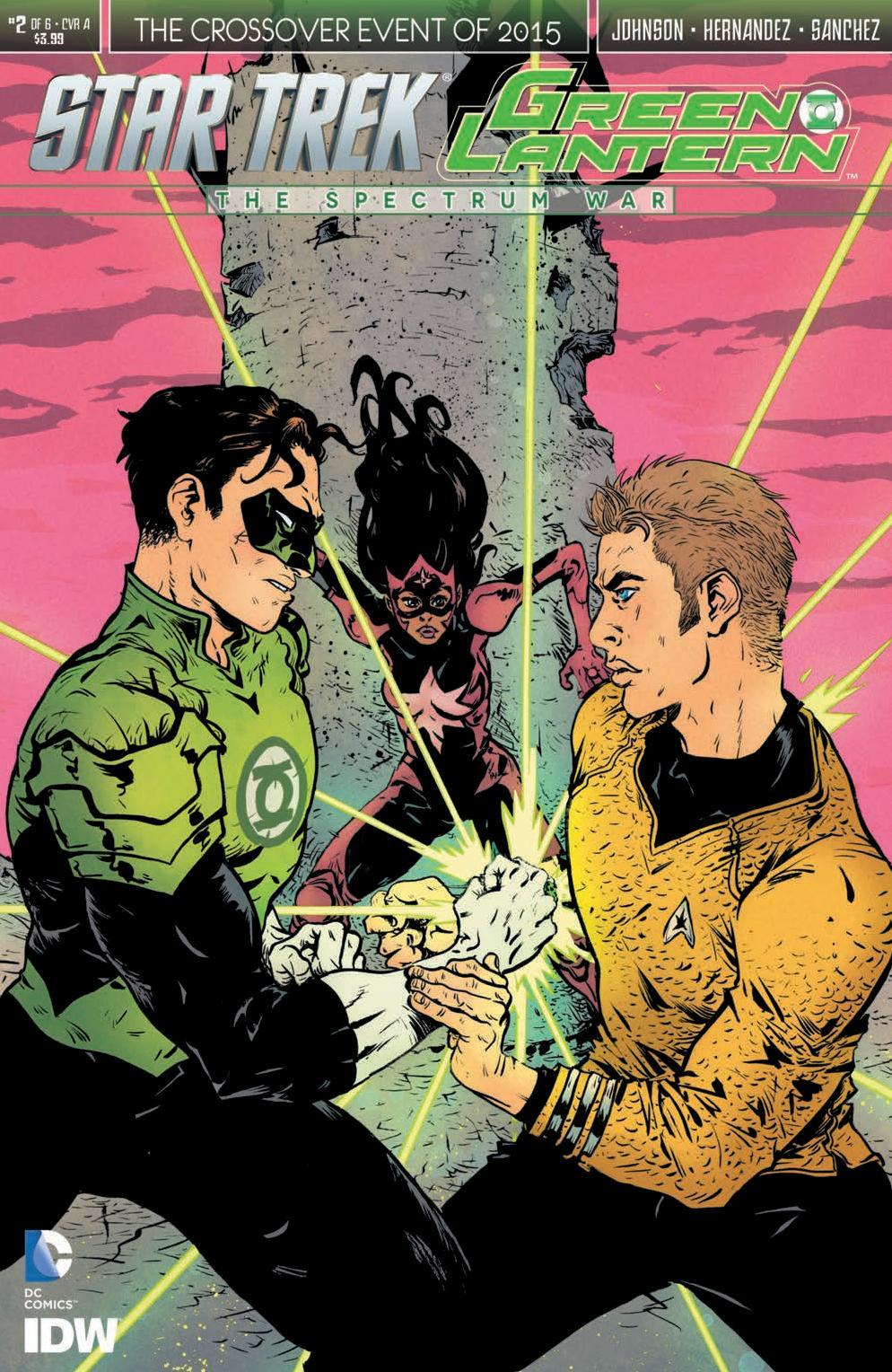 Star Trek/Green Lantern #2 Cover