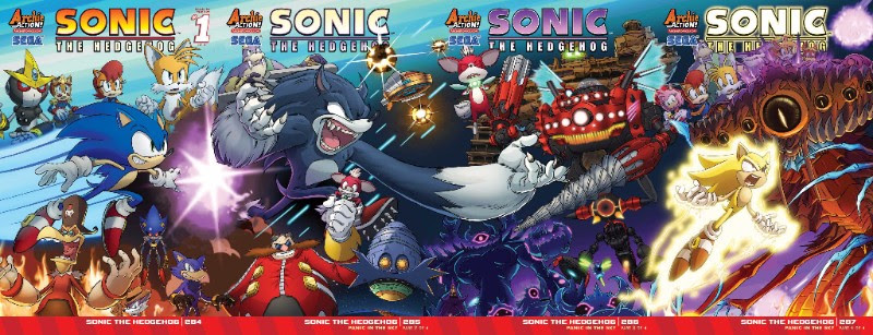 Sonic the Hedgehog Connecting Covers 284-287