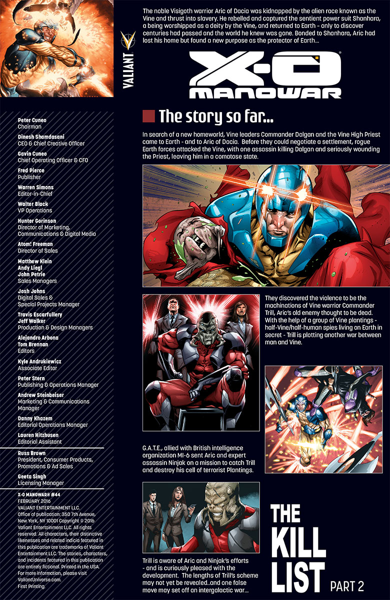 X-O Manowar #44 Preview Page