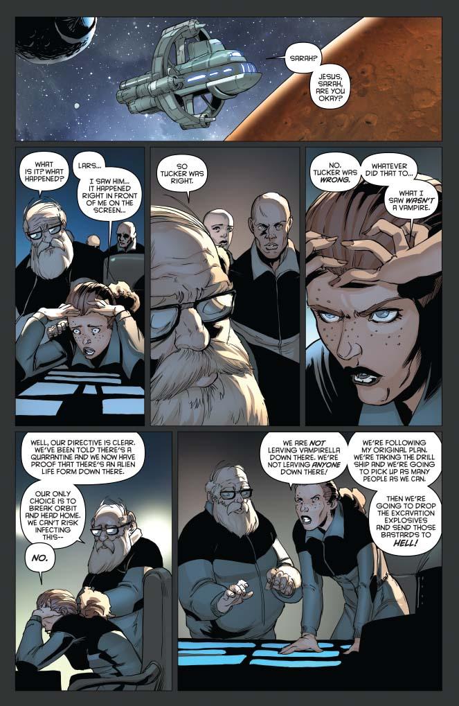 Aliens / Vampirella #6 Preview Page