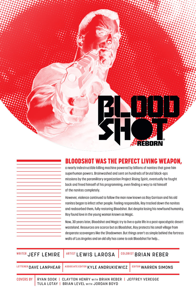 Bloodshot Reborn #11 Preview Page