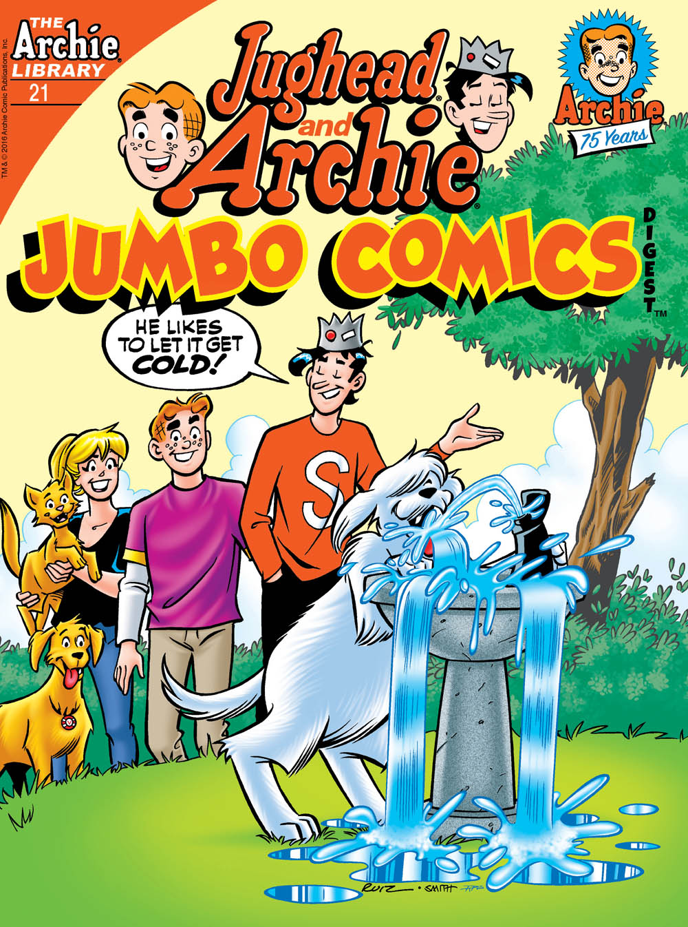 JUGHEAD AND ARCHIE JUMBO COMICS DIGEST #21 Cover